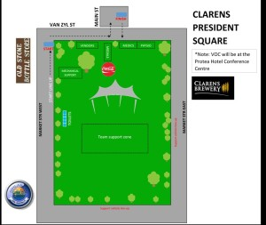 Venue lay out Clarens 2019